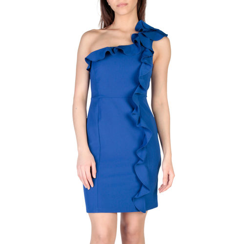 Miss Miss - Blu One-shoulder mekko